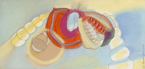 under the sea, pastel, 8 x 15 in., 2005
