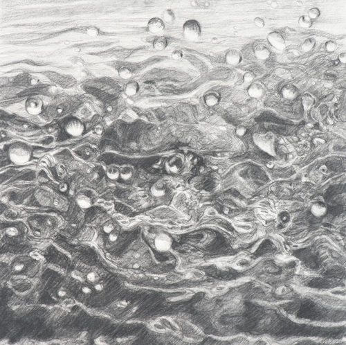 dreaming of water, graphite, 8 x 8 in., 2013