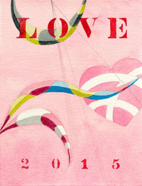 love, watercolor, 9 x 7 in., 2015