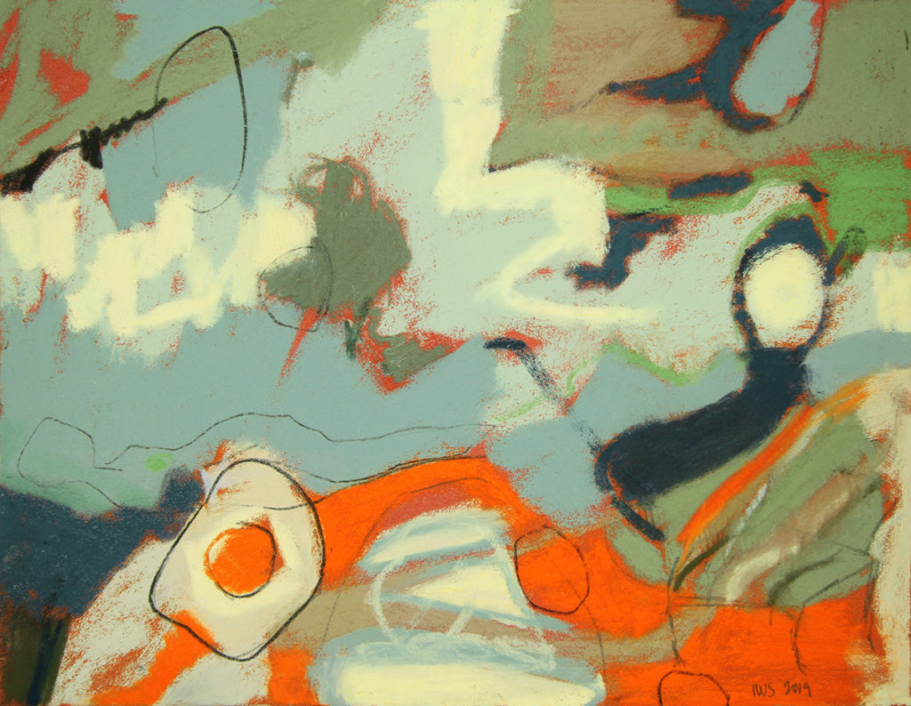levitation, pastel, 9 x 12.5 in., 2009