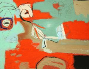 mind's eye, pastel, 9 x 10.5 in., 2009
