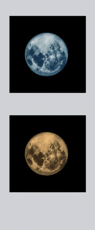 two moons for you, giclee from pastel, various sizes, 2014
